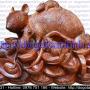 Tượng chuột ôm tiền vàng gỗ sưa