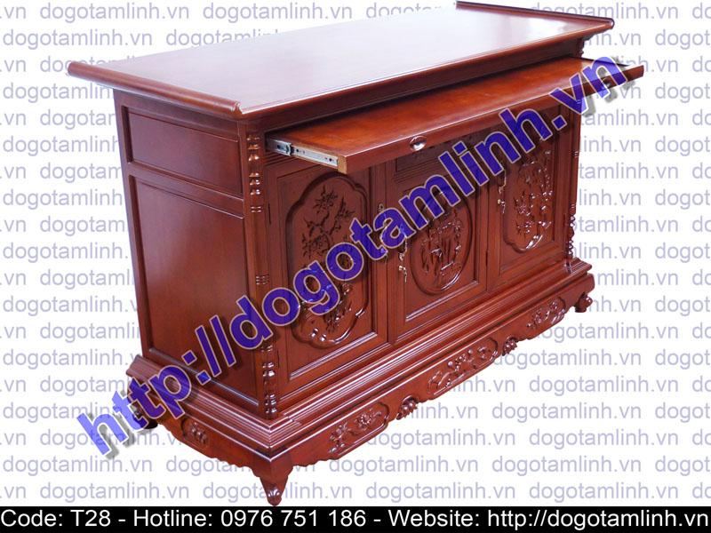 Tủ thờ Sen gỗ Gụ