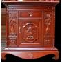Tủ thờ gỗ gụ trạm bình hoa