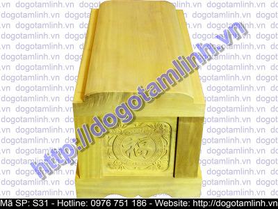 Quách gỗ Vàng Tâm trạm Phượng