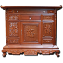 Tủ thờ phúc lộc thọ triện gấm gỗ gụ