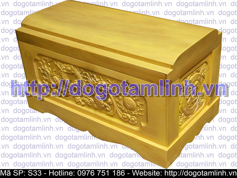 Quách gỗ Vàng Tâm trạm Rồng